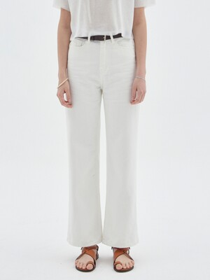 COTTON WIDE PANTS_IVORY