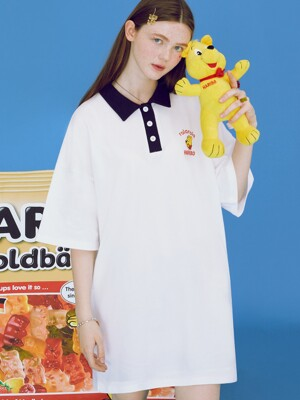 (OP-20333) ROLAROLA X HARIBO COLLAR ONE-PIECE WHITE