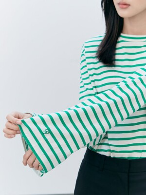Essential Stripe TShirts - Green (KE0840M02M)