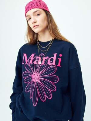 SWEATSHIRT THE FLOWER MARDI NAVY-VIOLET