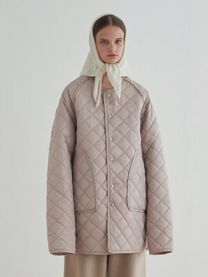 Quilted Jacket_Beige