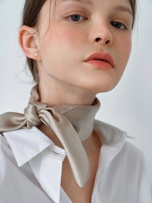[Spring Edition] Plain Silk Scarf (5Colors)