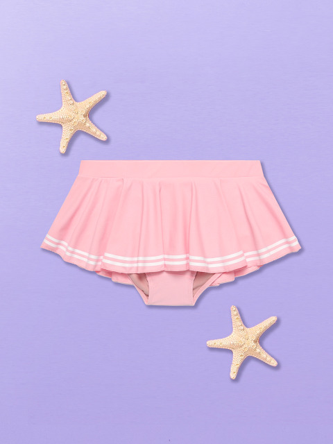 (PT-18375)MARINE SKIRT PANTS PINK