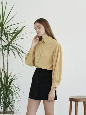 PUFF SLEEVE BLOUSE YELLOW