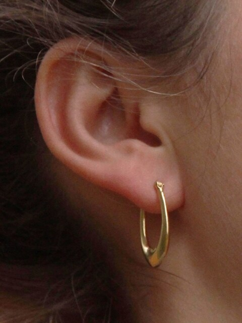 59 Small Line Silver Earring