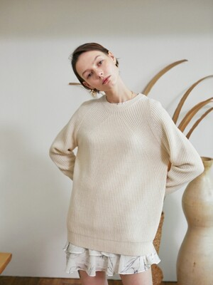 Jane knit pullover ver.2 grey