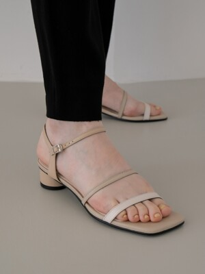 Meringue sandals 3cm / YY9S-S29 Beige gradation