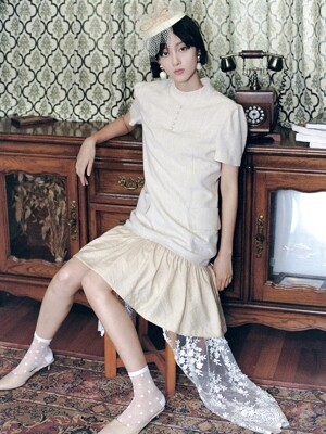 Summer Linen Dress (Beige)