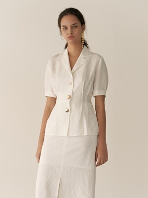 19RESORT LINEN COLLAR VOLUME BLOUSE_3COLOR