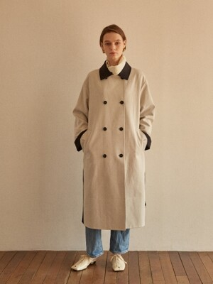 REVERSIBLE TRENCH COAT ECRU+CHECK