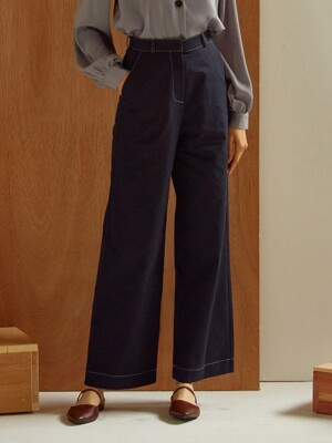 [By Joorti] J238 Stitched pants (navy)