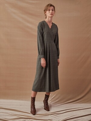LEAN WRAP DRESS_KHAKI