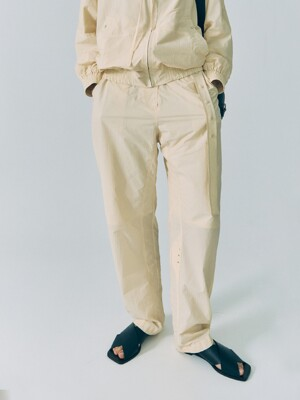 20SS SNAP BELT PANTS - CREAM