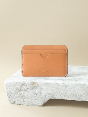 Italian Vegetable Pebble Card Wallet Caramel