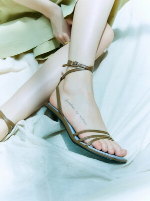 Ankle strap sandals_Mocha blue  [LMS207]