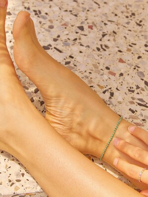 [SILVER] BEADS BALL ANKLET (3 COLOR)