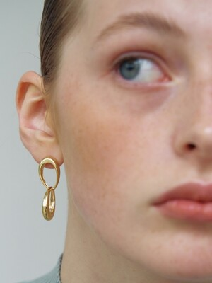 Two Oval Earrings