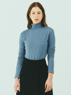 BENSIMON HALF TURTLE NECK KNIT - BLUE