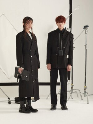 Side string jacket_Black