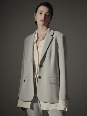 [Drama Signature] Two-button Tailored Blazer_PALE KHAKI