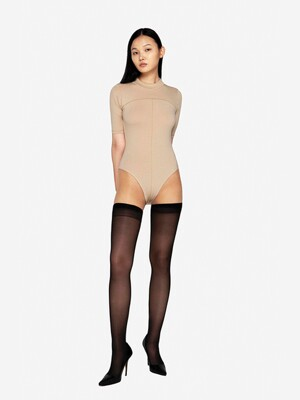 BEIGE BODYCON BODYSUIT