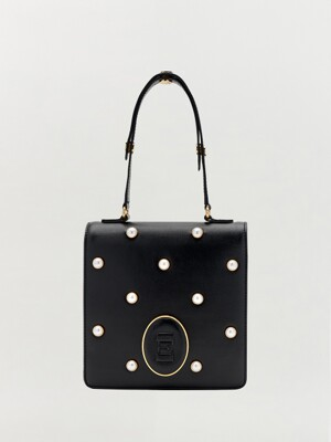 HERTZ Bag with Pearl - Black