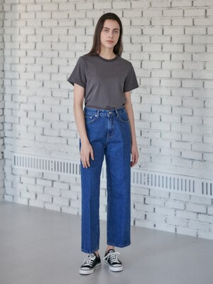 Wide denim pants-blue