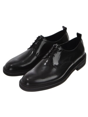 RELIZMPRODUCT Black Glossy Leather Derbys