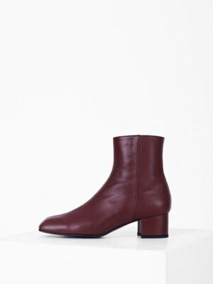PRISM ANKLE BOOTS -BURGUNDY