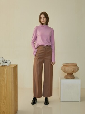 MINIMAL WOOL SLACKS [pink]