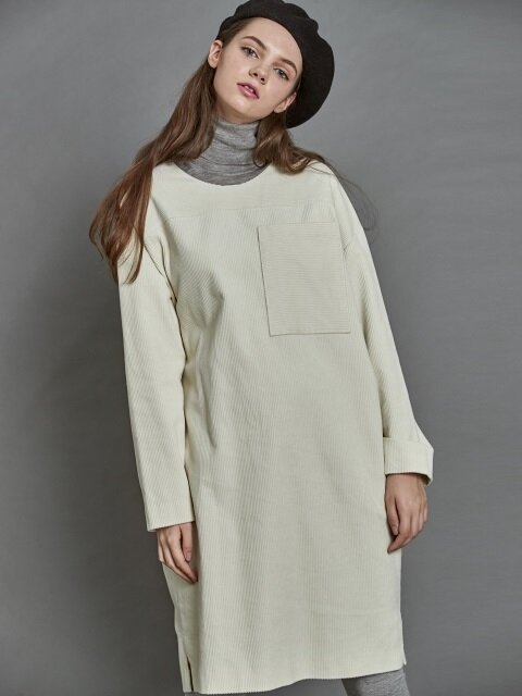 Corduroy Dress_ Off white