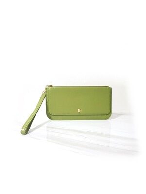 ZOE SLIM WALLET_ LIME