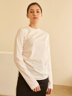 19SS SIDE STRING SHIRRING TOP WHITE