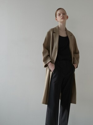 Linen one-piece jacket [CA]