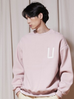 LT302_U Patch sweatshirts_Indi pink