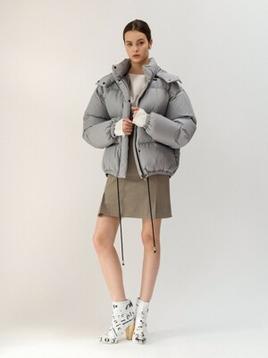 19FW DETACHABLE HOOD DOWN JACKET (GRAY)