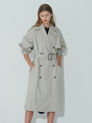 GRAY OVERSIZE TRENCH COAT