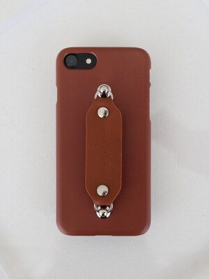 leather grip case brown - brown