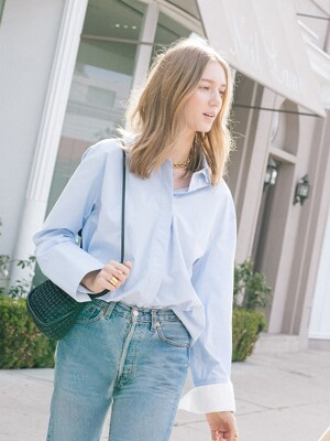 LOUVRE oversized shirt_Light blue