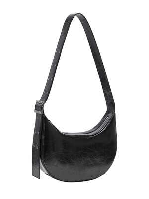 Round Belt Strap Bag in Black_VX0WG1300