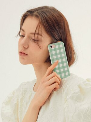 Check Phonecase_Mint