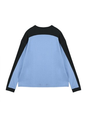 ORDINARY COLOR BLOCK PURPLEBLUE T-SHIRT