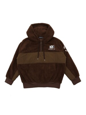 UNISEX NEVER DUMBLE HOODIE BROWN