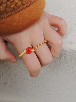 The RED Bonbon Ring SET
