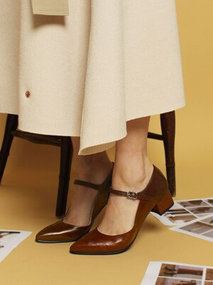 4cm Mary Jane Pumps [Camel]