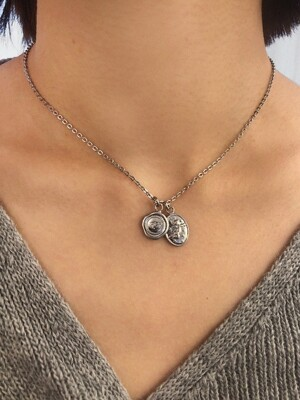 Qupid pendant necklace (Silver)