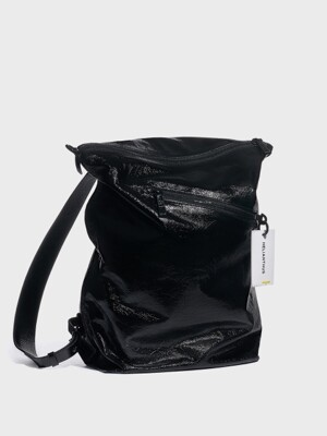 Jay-z backpack shoulder - shiny black