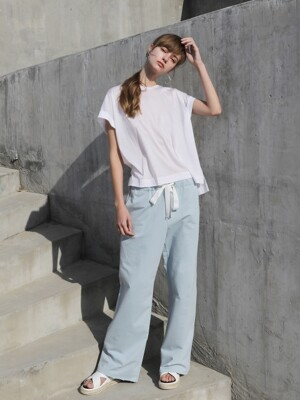 Comfort wide pants_Blue