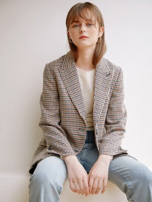 Timeless Check Jacket_Beige Brown