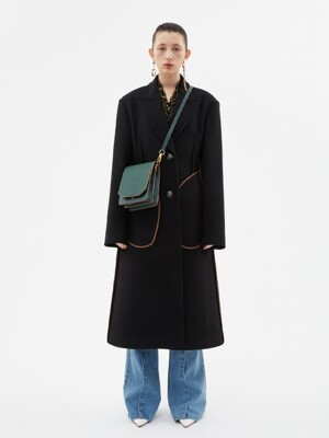 OLIVIA CASHMERE INSIDE-OUT COAT awa278w(BLACK)